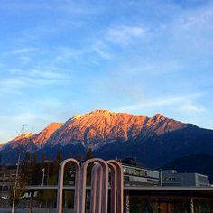 Good morning with an inviting alpenglow above the Swarovski Kristallwelten arrival building. Innsbruck, Picture Tag, Swarovski, Photo And Video, Mountains, Building, Pictures, Travel, Instagram