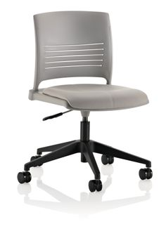 Designed by Giancarlo Piretti, Strive® offers low-cost comfort in a versatile task chair. Strive's simple, yet elegant style is an able task chair solution for corporate interiors, education and healthcare markets. Available with poly or upholstered seats. In addition to task chairs, Strive offers a consistent design language in an extended seating line.Strive's flex back encourages movement, relaxation and enhanced circulation.