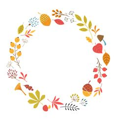 Round floral frame vector image on VectorStock Logo Infantil, Merry Christmas Background, Wreath Drawing, Wreath Watercolor, Flower Frame, Journal Cards, Graphic Illustration, Envelopes, Embroidery Patterns