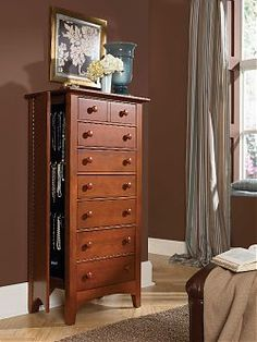Great idea - Lingerie Chest with hidden storage behind left-side-end panel.
