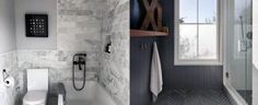 Discover sophisticated and upscale interiors with the top 60 best grey bathroom ideas. Explore unique design inspiration for your house. Grey Bathroom Tiles, Grey Bathrooms, Shiplap Bathroom, Basement Bathroom, Washroom, Small Bathroom, Master Bathroom, Interior Design Inspiration, Bathroom Inspiration