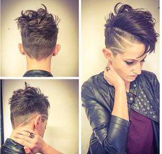 Faux Hawk Frisuren, asymmetrische Frisuren, brave Pixie-Frisuren, perfekte Locken …, 24 Kurzhaarfrisuren für jeden etwas dabei …