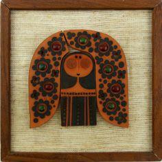 Astounding Rare MURAMIC Handcrafted HORNSEA Pottery Woman Wall Tile - QI B66 5/2014 cost $8