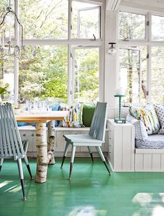 Rustic Cabin Make-Over: A Cherry Dining Space