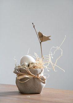 Easter I Vogelnest, Vögelchen aus Papier, Osterdeko, Osterei, Ostern, DIY, Idee von Gezwitscher