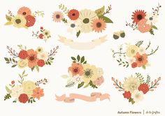Check out Autumn Flowers Set by Delagrafica on Creative Market
