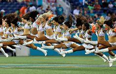 Miami Dolphins cheerleaders perform - Willie J. Allen Jr./AP