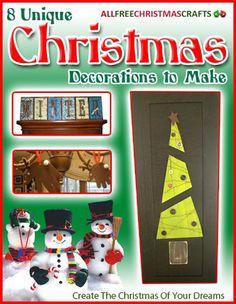"""8 Unique Christmas Decorations to Make"" eBook | AllFreeChristmasCrafts.com"