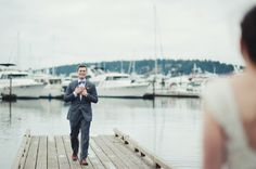 And the award for sweetest first look face goes to this groom.  Photography by iamkristenmarie.com