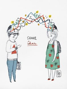 Share Ideas Art Print, (click to read the artist's name, I can't type the language)