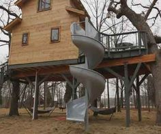 Best Kid S Slide From A Second Story Deck Easy To Install And 400 x 300