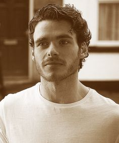 Richard Madden (Robb Stark when in character on Game of Thrones)
