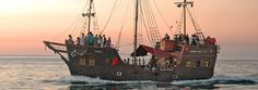 CAPE TOWN V Waterfront Jolly Roger Pirate Cruise hr AM or PM) Per family - 2 adults + 2 kids (under the age Booking required? Online or 021 421 0909 Pirate Cruise, Pirate Boats, Ahoy Matey, Welcome Aboard, Jolly Roger, Travel List, Water Crafts, Cape Town, Sailing Ships
