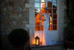 2015 Backless Robes de Mariée Berta luxe de mariée Robes de mariée Sheer Bretelles moulante perlée Robe de mariée sirène avec…