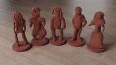 High detail scanning of clay figurines created by schoolchildren for the British Ceramics Biennial Lock Logo, Clay Figurine, Clay Sculptures, Chinchilla, Sculpting, Ceramics, 3d, Create, Amazing