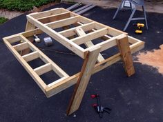 DIY Backyard table diy garden easy How to Build a Picnic Table in Just One Day