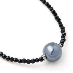 Black Pearl Necklace Black Pearl Jewelry, Shells, Pearl Necklace, Bracelets, Jewellery, Natural, Necklace Ideas, Pearls, Schmuck