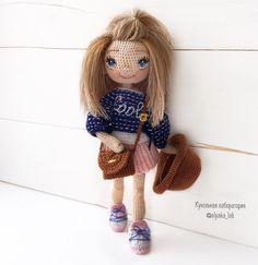 Оля Нижибецкая Crochet Doll Clothes, Crochet Dolls, Crochet Hats, Crochet For Kids, Diy Crochet, Human Doll, Dolls For Sale, Amigurumi Doll, Miniature Dolls