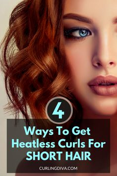 Want to curl hair but avoiding curling irons? You'll be glad to know that you can achieve heatless curls. Want to learn how? Check out this guide! Curls Without Heat, Curls No Heat, How To Curl Short Hair, Short Straight Hair, No Heat Hairstyles, Curled Hairstyles, Curls For Medium Length Hair, Medium Hair Styles, Short Hair Styles