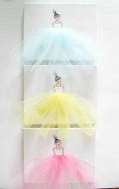 Custom design nursery artwork by ShenasiConcept. #Ballerina #Princess