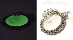 Schmuckanhänger - ✼ Nachtjuwel ✼ Kettenanhänger - ein Designerstück von LiAnn-Versand bei DaWanda