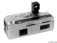 "Mamiya: Mamiya 16 EE 1962. 16mm film, miniature camera. Also known as ""EE Deluxe""."