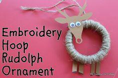 Embroidery Hoop Rudolph Ornament| Positively Splendid