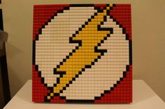 Hey, I found this really awesome Etsy listing at https://www.etsy.com/listing/226466605/the-flash-lego-mosaic