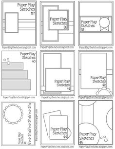 Sheet 5, Paper Play Sketches: Sketch Sheets to Print