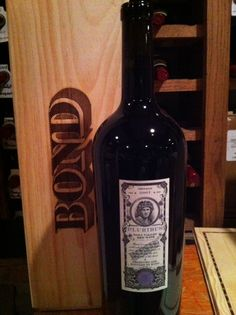 Lot #56 Bond Cabernet Sauvignon Plurbius 3 Liter plus a VIP Winery tour and tasting for six persons.