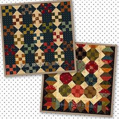 Portions of TWO table runner designs I love, ONE slot to fill. Help, I'm stuck on the fence and I can't get off! (she said in her best old person voice) Please help me decide. Top? Or Bottom? #KimDiehlQuilts #PatchworkTableRunners #PollingMyPeeps #CantMakeUpMyMind