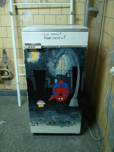 In Russia, Chubby Spider-Man Fridge Rebukes Hungry College Students