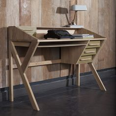 Plywood Furniture Plans Solid Wood New Ideas Plywood Furniture, Furniture Plans, Cool Furniture, Furniture Design, Office Furniture, Office Desk, Origami Furniture, Plywood Floors, Futuristic Furniture
