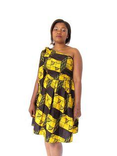 One shoulder dress style