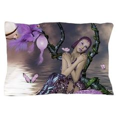 Wonderful fairy with fantasy bird Pillow Case by nicky - CafePress