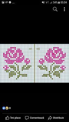 Cross Stitch Rose, Cross Stitch Flowers, Cross Stitch Patterns, Mandala Sketch, Swedish Weaving, Melting Beads, Plastic Canvas Crafts, Native American Beading, Beaded Flowers