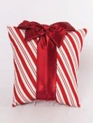 Woof n Poof Christmas Pillows, Large Package, Candy Cane w/Red