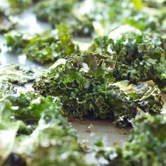 No fail, crispy kale chips every time! Sea Salt and Garlic Kale Chips recipe from thebusybaker.ca