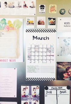 Free Printable: March 2014 planning calendar for your fridge or office!