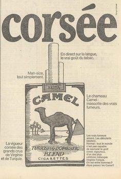 On est entre hommes? Alors passez les Camel! - Le Monde, 4 mai 1968