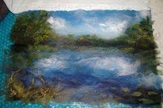 wet felting landscape inspiration