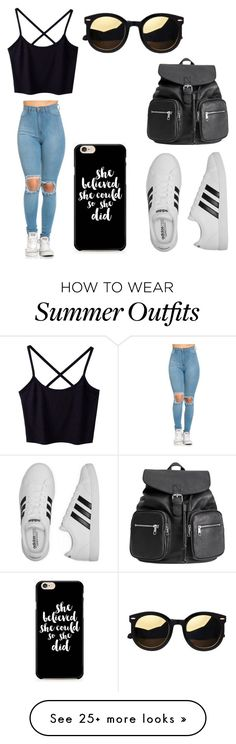 """""""Casual Outfit"""" by antoo23 on Polyvore featuring adidas and H&M"""