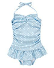 Dot Skirted Swimsuit $42.00 - need to stop by the Janie and Jack to pick this up. So cute!