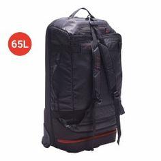 Bolsa deporte maleta viaje con ruedas away 60 litros negro rojo 31017458a70d6