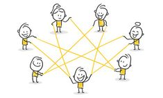 Strichfiguren / Strichmännchen: Netzwerk, Internet, Zusammenarbeit. (Nr. 115) Easy Doodles Drawings, Simple Doodles, Business Icons, Doodle People, Visual Thinking, Illustrator, Visual Metaphor, Sketch Notes, Co Working