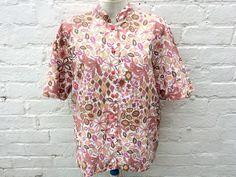 Vintage blouse, 70's shirt, women's patterned top by retrobelluk on Etsy https://www.etsy.com/uk/listing/519071137/vintage-blouse-70s-shirt-womens