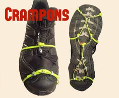 Crampons are a must have if you plan to brave the elements! The traction crampons provide is absolutely paramount to safety when traversing on ice!