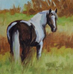 "Daily Paintworks - ""Painted Pastures"" - Original Fine Art for Sale - © Susan Ashmore"