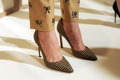jcrew pants, manolo blahnik shoes