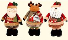 2015 The new retractable legs handmade Christmas gift snowman doll Santa deer plush toys